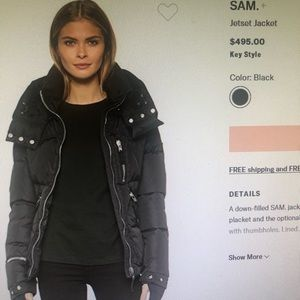SAM jet set down coat